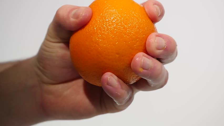 Male Hand Squeezing Fresh Orange Stock Footage Video (100% Royalty-free)  1008918638 | Shutterstock