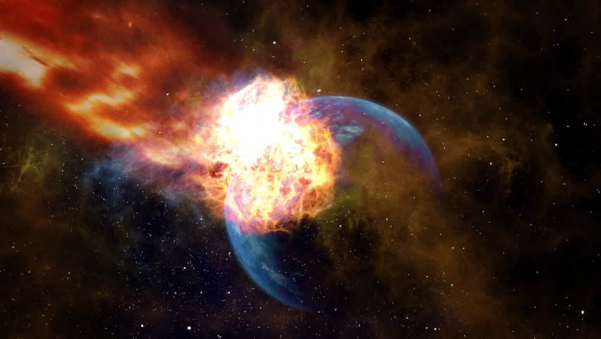 Suns cosmic solar radiation scorches earth destroying our planet in this cinemagraph plotagraph