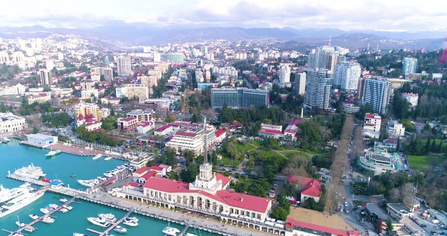 Aerial View Of Sochi.