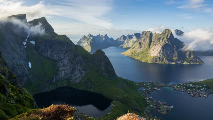 This is a Timelapse from the Lofoten Islands in Norway. The Timelapse is available in 4K UHD Resolution.   Shutterstock HD Video #1008974999