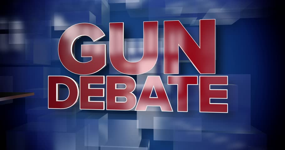 A red and blue dynamic 3D Gun Debate title page background animation.	 	 | Shutterstock HD Video #1008990647