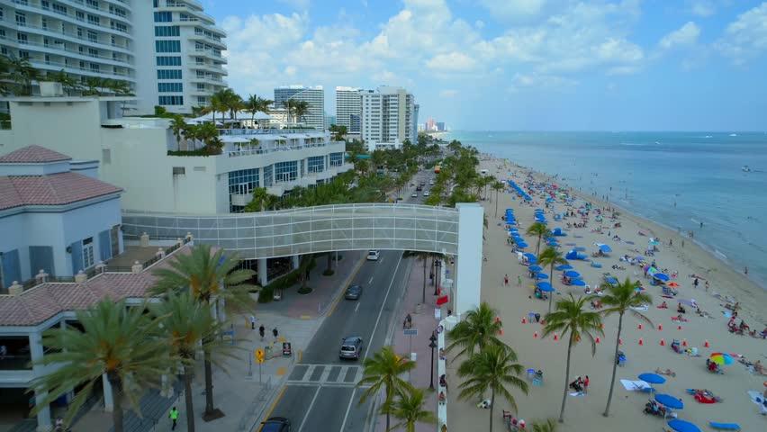 Aerial flyover Fort Lauderdale Broward County 4k 60p   Shutterstock HD Video #1009031396