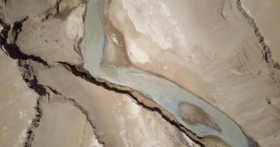 Jordan River mouth to the Dead Sea flight Aerial shot of Jordan River mouth to the Dead Sea, Israel  | Shutterstock HD Video #1009038821