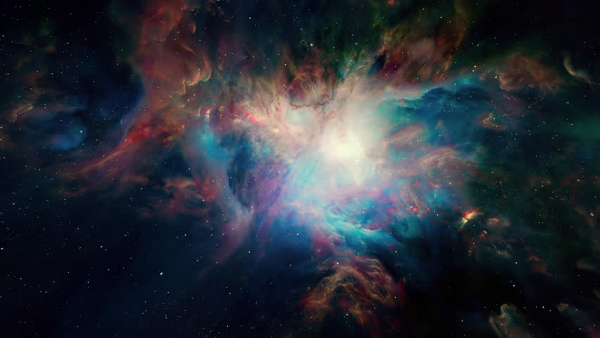 Flying In Orion Nebula 4K is motion footage for scientific films and cinematic in space. Also good background for scene and titles, logos.