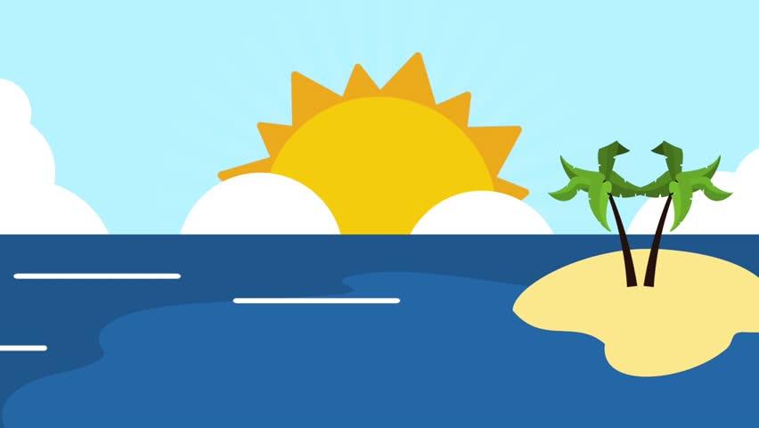 Beach and summer HD definition | Shutterstock HD Video #1009104449