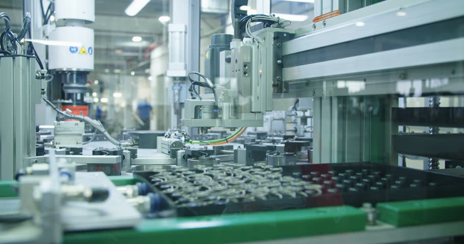 Automated machine in a production line | Shutterstock HD Video #1009119683