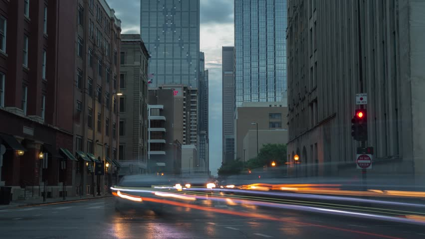 Dallas - Downtown - Busy Morning Traffic Lights Time Lapse | Shutterstock HD Video #1009148234
