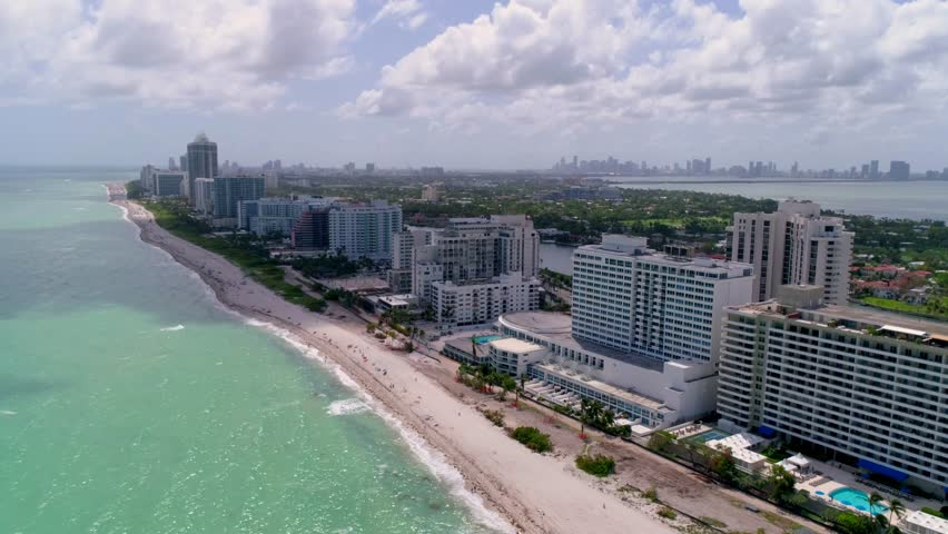 Miami Beach Flyover by Aerial Drone   Shutterstock HD Video #1009167320