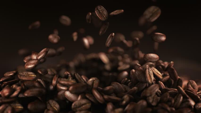 Coffee beans explosion in super slow motion 4K | Shutterstock HD Video #1009180253