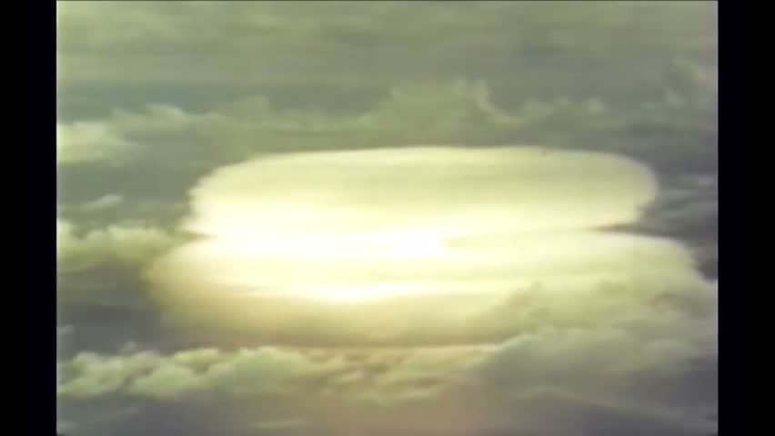 CIRCA 1950s - South Pacific nuclear tests on Johnston Island in 1951.
