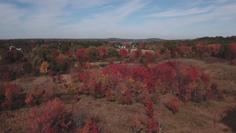 See New England Foliage while flying over a marshland