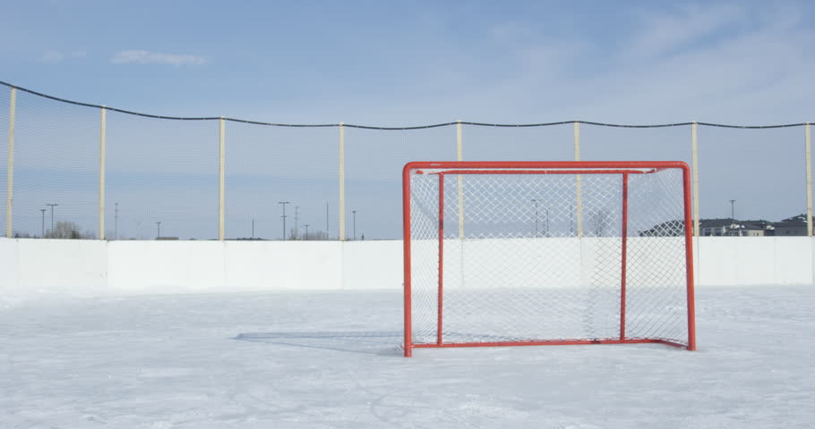 Hockey Net On Outdoor Ice Stock Footage Video 100 Royalty Free 1009222307 Shutterstock
