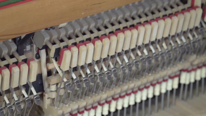 Tuning Piano. Close up shot of tuning piano | Shutterstock HD Video #1009222928