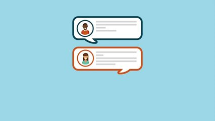 chat message online animation hd
