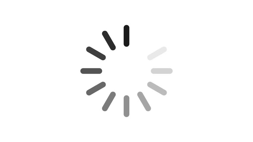 Loading circle icon on white background animation with alpha channel.