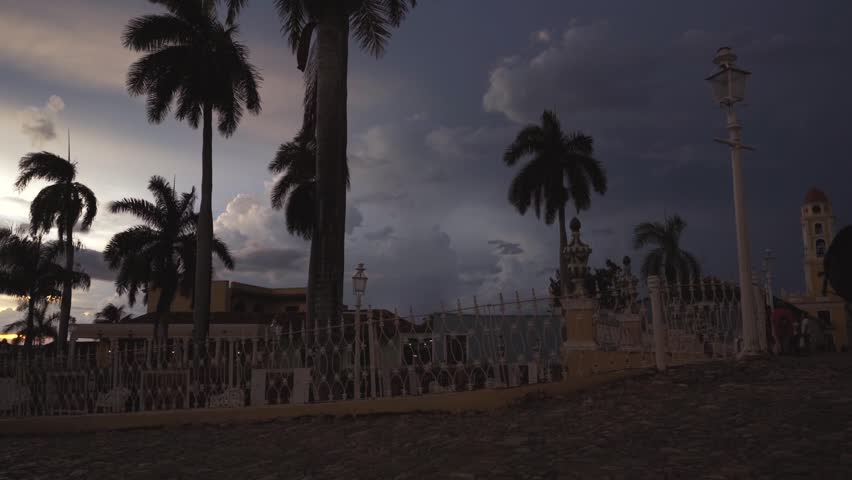 CUBA, TRINIDAD city tour. The old streets, the main square, the citizens. Life through the eyes of a tourist in Trinidad. | Shutterstock HD Video #1009278047
