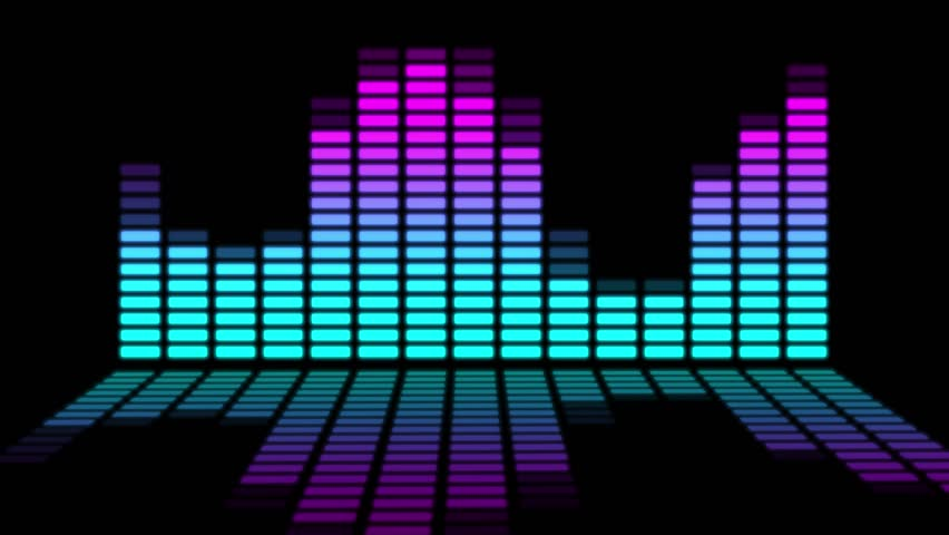 Moving bars of colorful audio equalizer  Royalty-Free Stock Footage #1009294769