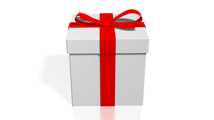 3d Gift Box, White Background Stock Footage Video (100% Royalty-free)  1009296692 | Shutterstock