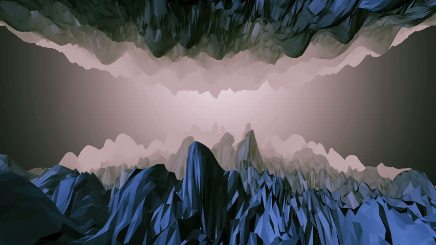 Low Poly Cave Tunnel Zoom at Glowing Light at End Animated 3D Rendered Video. rendered natively. Realistic 3D animation with color and light effect #1009301381