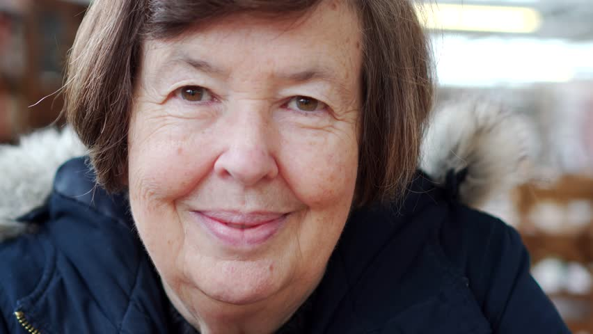 Female Cancer Treatment Survivor Happy, Brave Mature Woman, Portrait In Coffee Shop | Shutterstock HD Video #1009334303