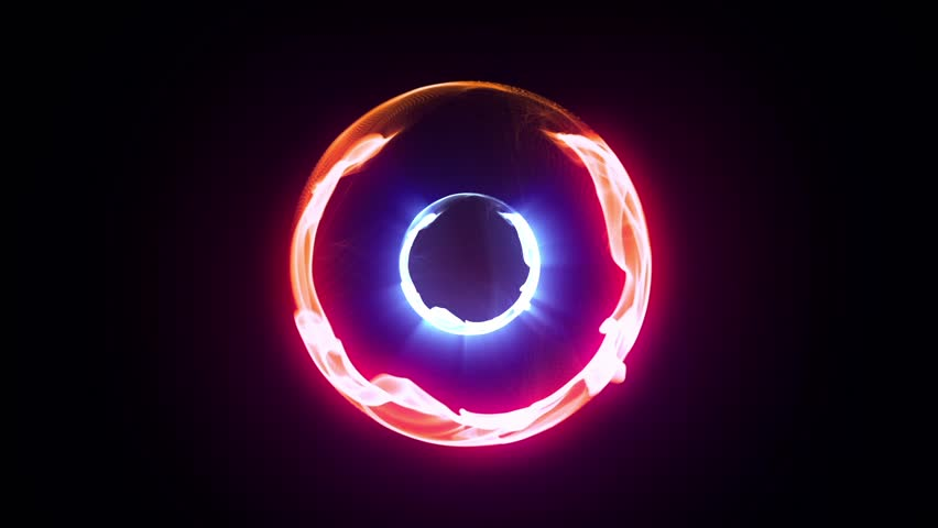 Red Energy Plasma Ball Nucleus Loop Alpha Matte 3D Renderings Animations