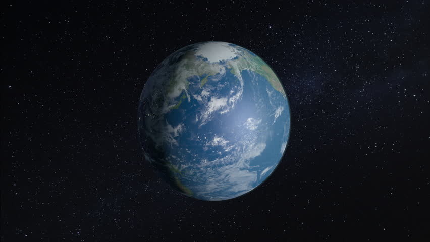Spinning earth closing in to North America | Shutterstock HD Video #1009366220