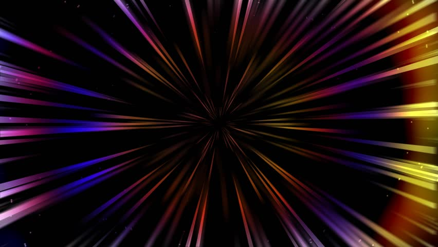 Abstract of warp or hyperspace motion in black space with stars. Seamless loop background.   Shutterstock HD Video #1009366544