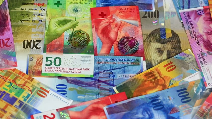 Swiss franc banknote | Shutterstock HD Video #1009393310