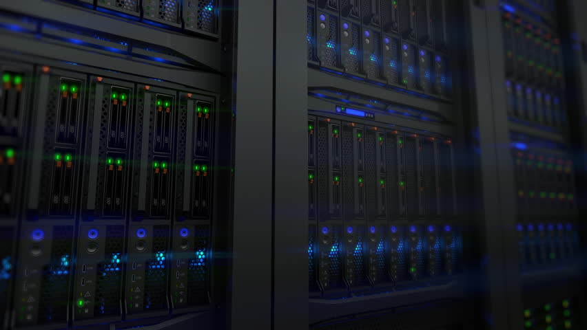 Lamps blinks on servers in modern data center. Loopable 3d animation, seamless loop Royalty-Free Stock Footage #1009394294