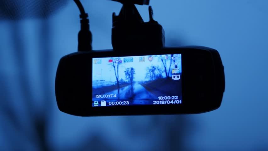 Car, dash camera showing the road, speed in kilometers per hour | Shutterstock HD Video #1009430036