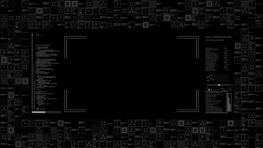 PNG alpha.HUD digital interface.Futuristic technological tamplate.Text techno sci fi elements.   | Shutterstock HD Video #1009459820