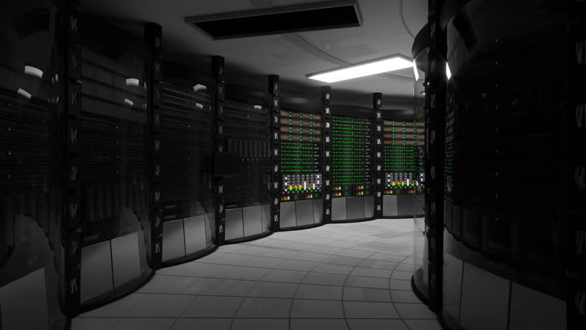 Modern server computer equipment turns on after power outage, blackout. Power on in the server room, the normal operation of the servers. Royalty-Free Stock Footage #1009463864