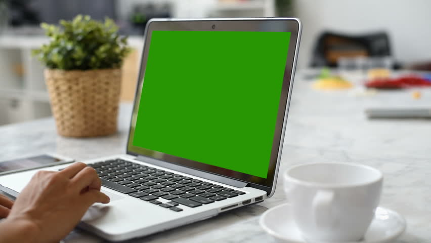 Woman hand using laptop with key green screen. Lady hand typing on a laptop computer. | Shutterstock HD Video #1009465187