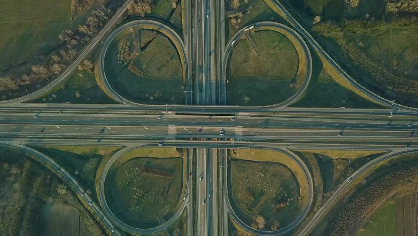 Highway intersection aerial drone footage   Shutterstock HD Video #1009469726