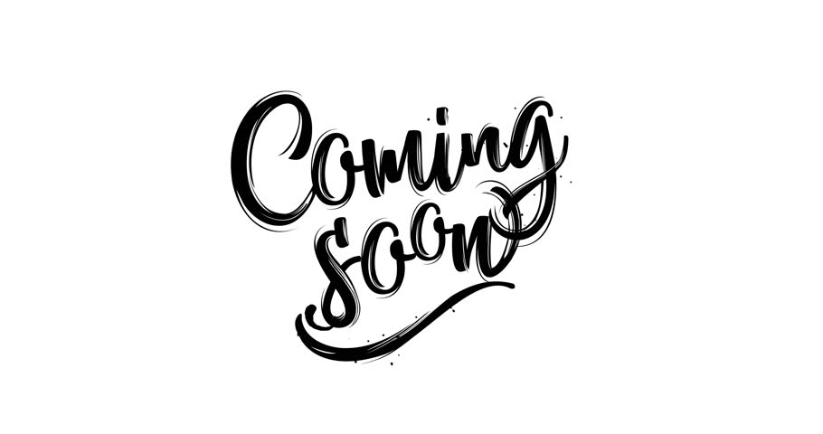 Coming Soon Sign for Movie Trailer, Music Teaser, Intro Video, Outro, Show Promotion, Theatre Synopsis, Live Streaming. Seamlessly Loopable. Alpha Channel. Motion Design.