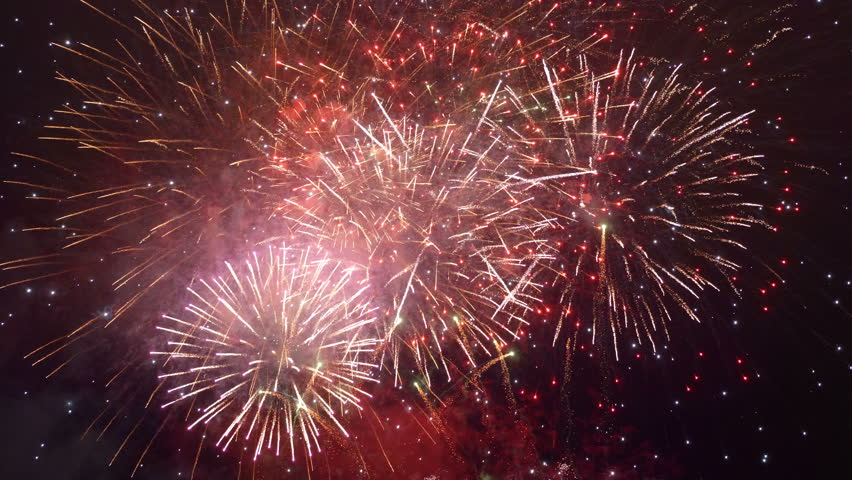 Professional video of fireworks show in 4K slow motion 60fps   Shutterstock HD Video #1009516526