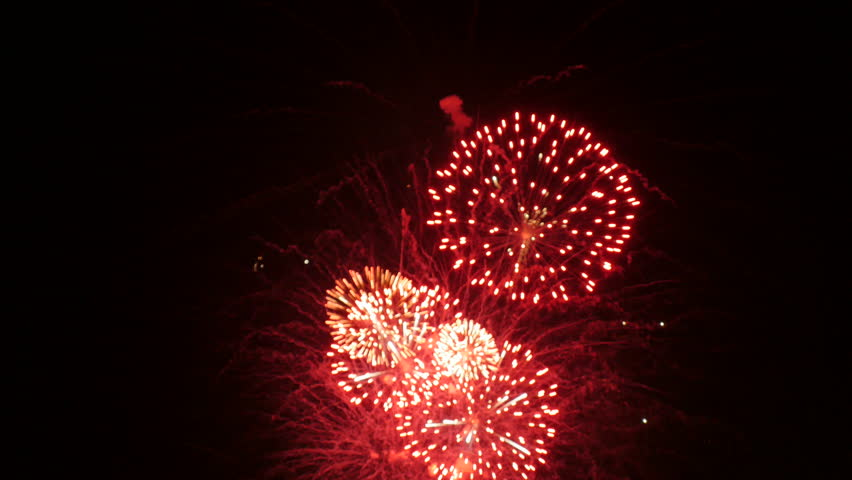 Out of focus fireworks. | Shutterstock HD Video #1009535141