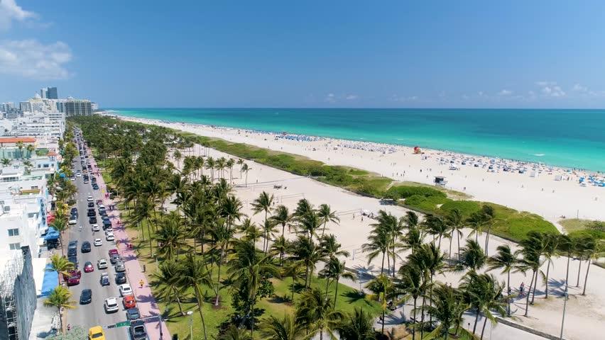 Aerial over Miami Beach, FL