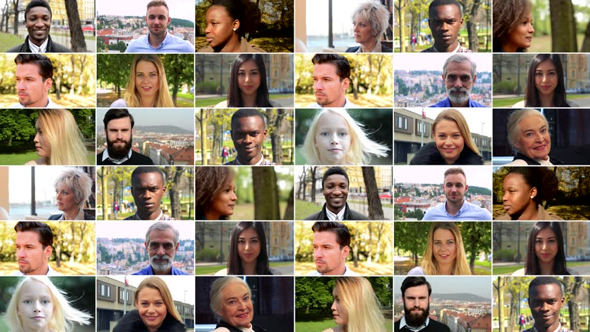 4K compilation (montage) - group of people smile at the camera in various environments | Shutterstock HD Video #1009594274