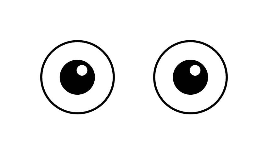 Cartoon Big Eyes Blinking in Stock Footage Video (100% Royalty-free) 1009620749 | Shutterstock