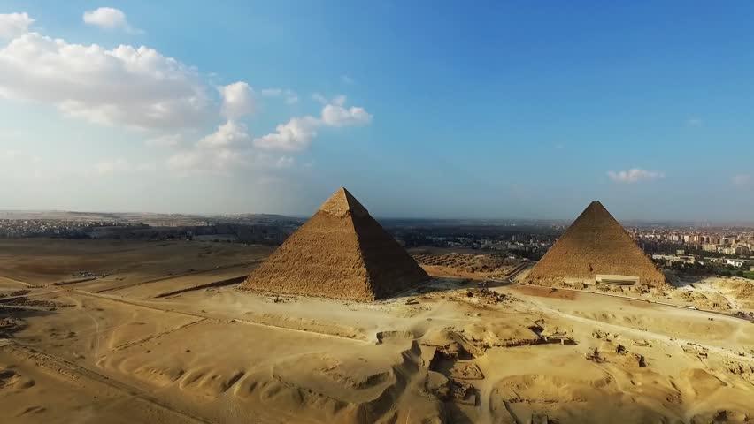 Aerial egypt landmarks.    Shutterstock HD Video #1009633016