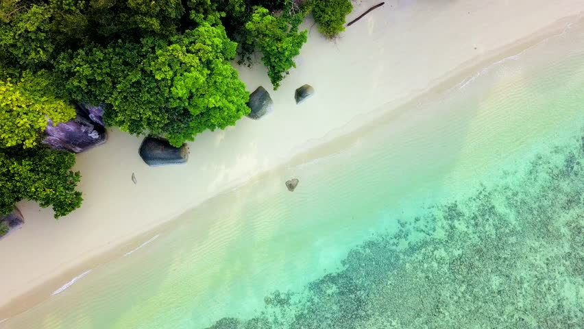 4K Aerial view of Koh Adang the tropical island in Thailand with a beautiful sand beach and clear water #1009643423