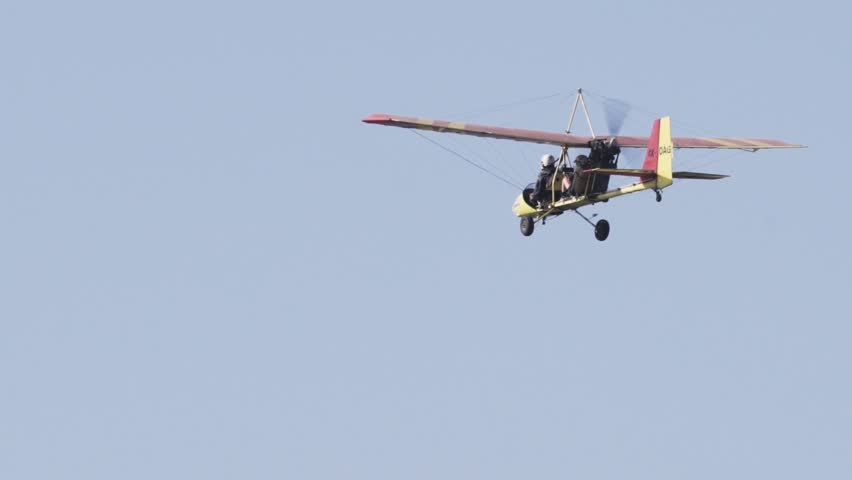 Small Cessna Airplane Flying with two passengers aboard  | Shutterstock HD Video #1009643636