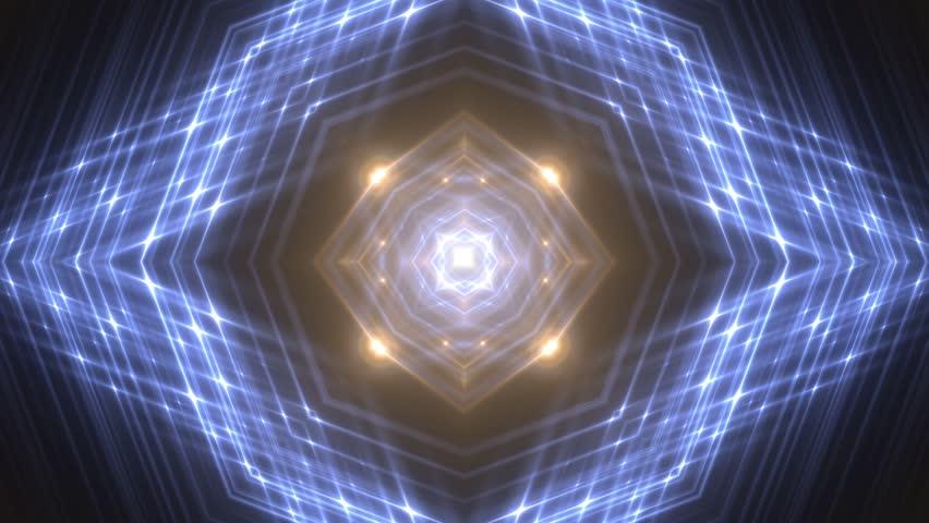 VJ Lights multicolored flashing spot light. Wall stage led blinder blinking neon. Club concert dance disco dj matrix beam fashion. Loop animations. #1009661039