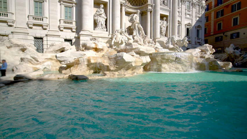 The Trevi Fountain is a fountain in the Trevi district in Rome, Italy. It is the largest Baroque fountain in Rome and one of the most famous fountains attracting tourist visiting Rome.