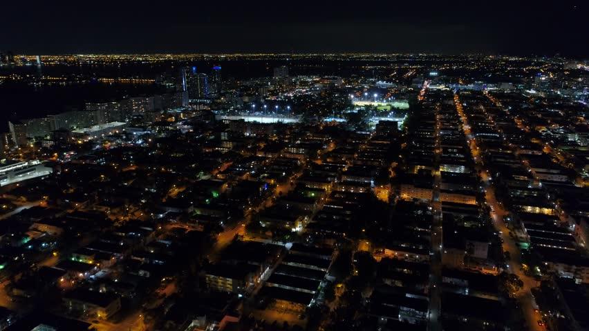 Night footage Miami Beach | Shutterstock HD Video #1009716923