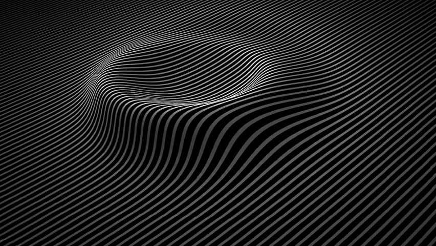 Abstract background with wavy lines. Animation ripples on surface from neon lines. Animation of seamless loop | Shutterstock HD Video #1009718339