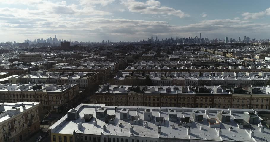 Aerial of Residential Area in Queens, New York   Shutterstock HD Video #1009782017