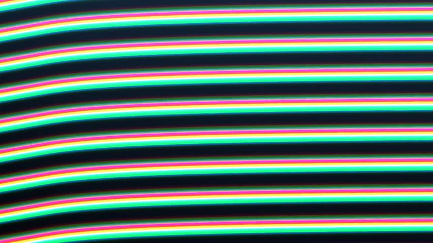 Analogue glitchy colorful large lines. Glitch loop depicting technical faults or damage on a retro CRT television screen for vintage technology video transitions. Loop-ready extreme close-up. | Shutterstock HD Video #1009783736