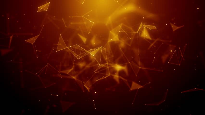 Plexus abstract network business technology science background loop | Shutterstock HD Video #1009848440